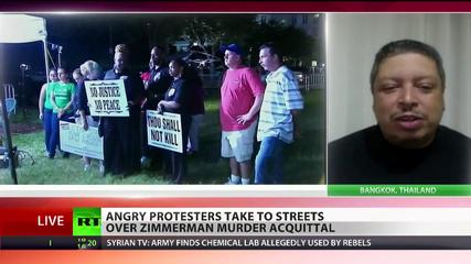 News video: 'No justice, no peace!' Angry protests sweep US over Zimmerman verdict